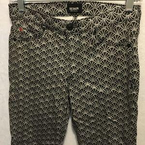 HUDSON Sz 27 NICO MidRise Stretchy Printed Jeans